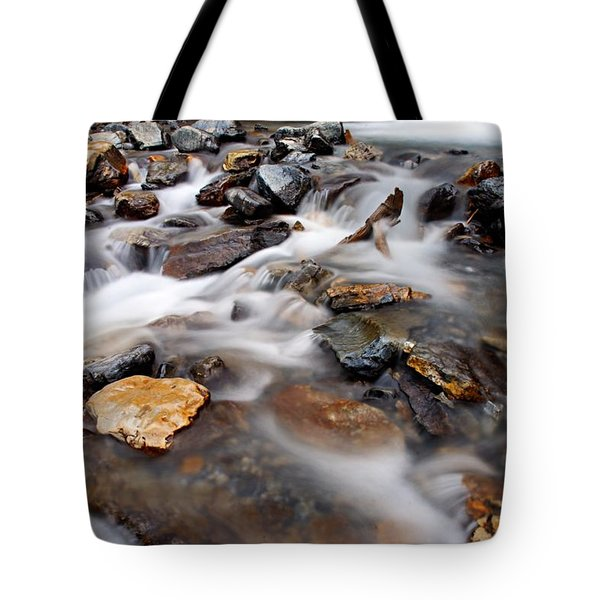 Water On The Rocks Tote Bag by Larry Ricker