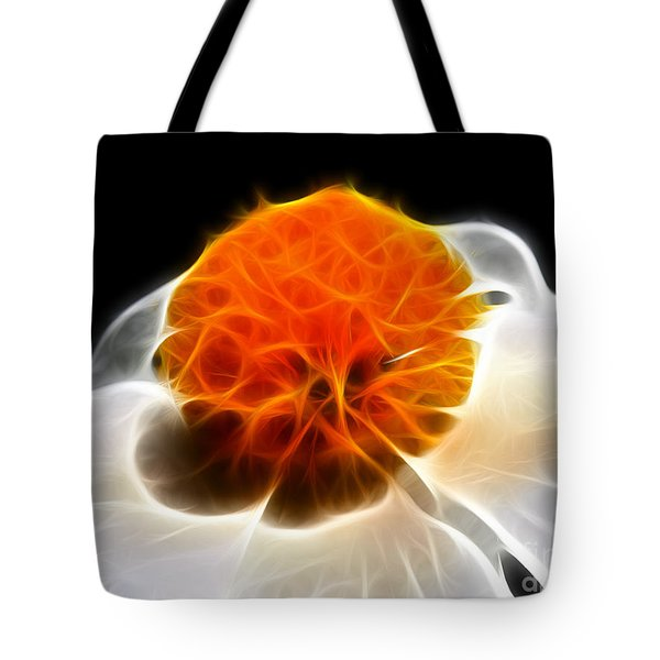 White Flower Tote Bag by Wingsdomain Art and Photography