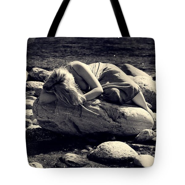 Woman In River Tote Bag by Joana Kruse
