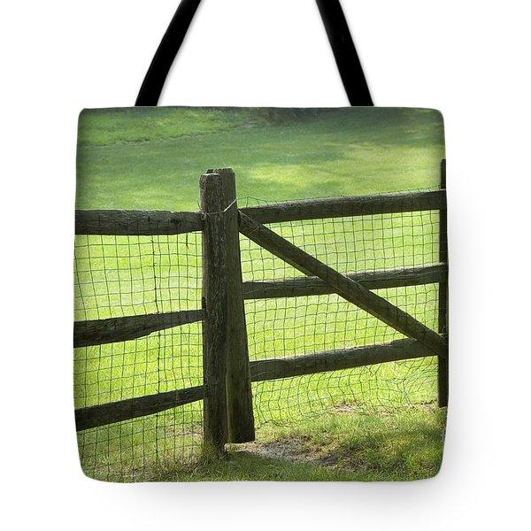 Wood Fence Tote Bag by Tony Cordoza