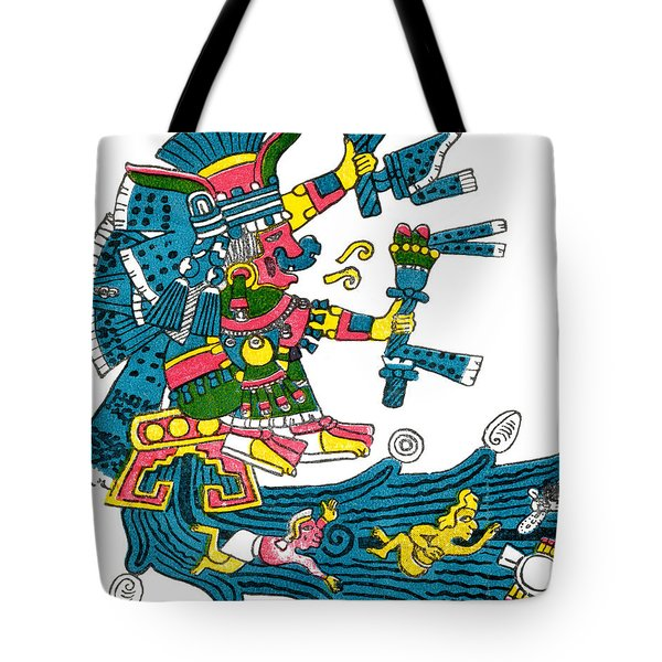 Xochiquetzal, Aztec Goddess Of Beauty & Tote Bag by Photo Researchers
