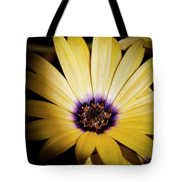Yellow Daisy Tote Bag by David Patterson
