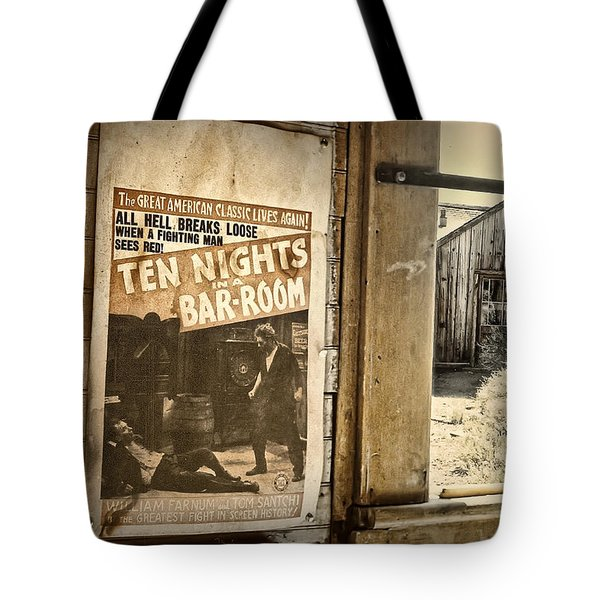 10 Nights in a Bar Room Tote Bag by Scott Norris