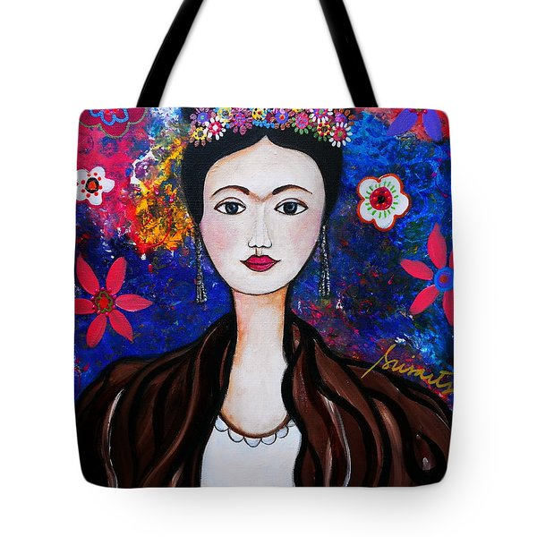 Frida Kahlo Tote Bag by Pristine Cartera Turkus