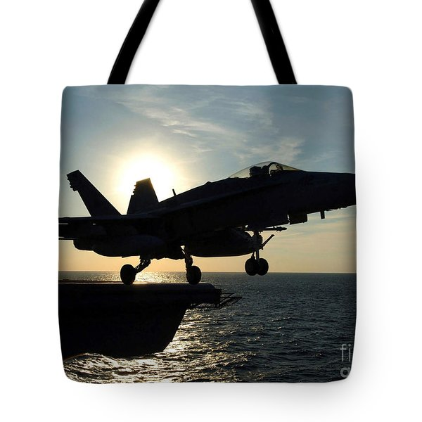 An Fa-18c Hornet Launches Tote Bag by Stocktrek Images