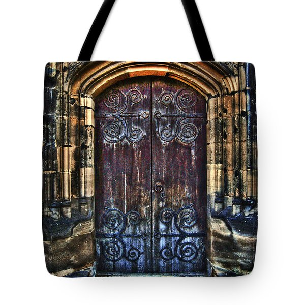 14th Century Door Tote Bag by Yhun Suarez