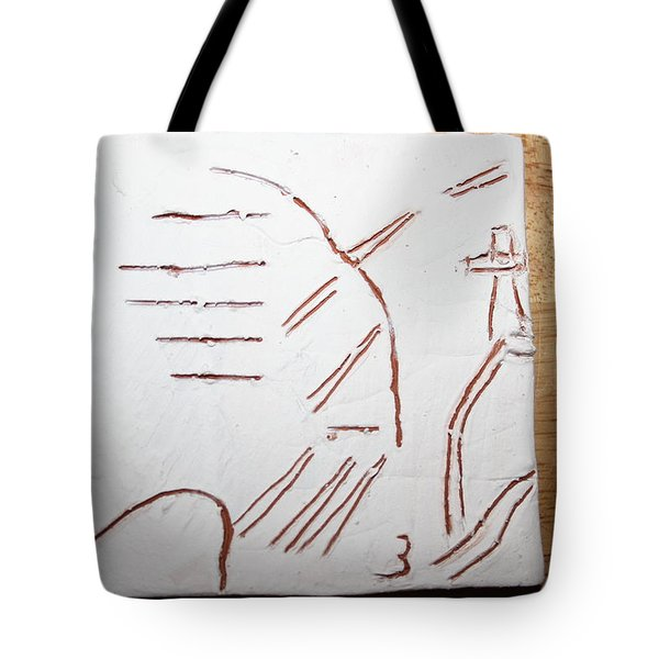 Sign - Tile Tote Bag by Gloria Ssali