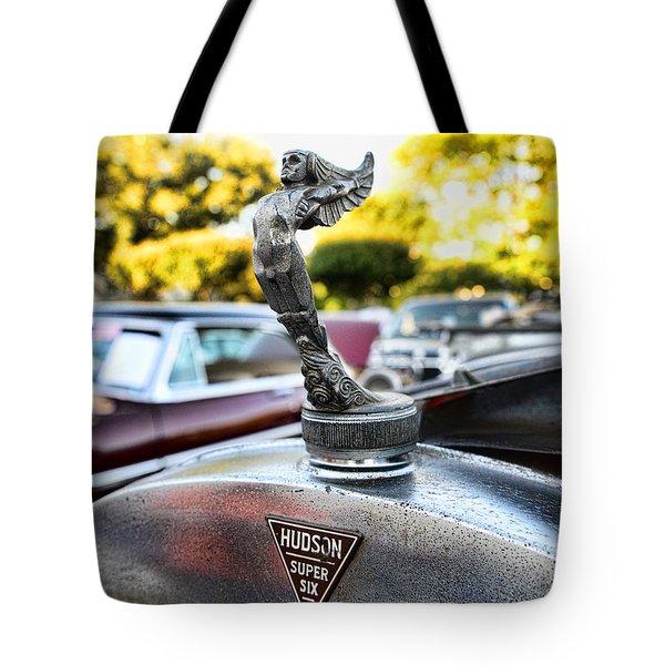 1928 Hudson Super Six Roadster Hood Ornament Tote Bag by Paul Ward