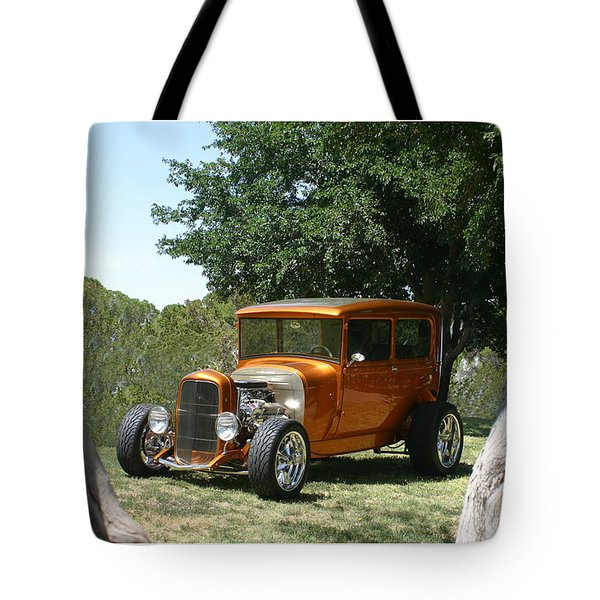 1929 Ford Butter Scorch Orange Tote Bag by Jack Pumphrey