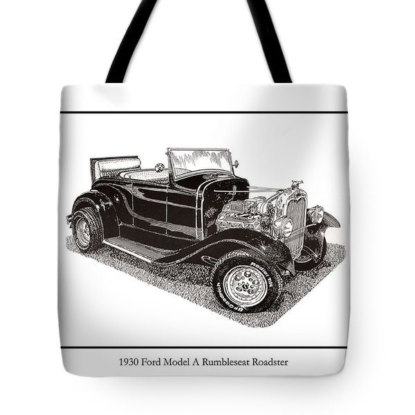 1930 Ford Model A Roadster Tote Bag by Jack Pumphrey