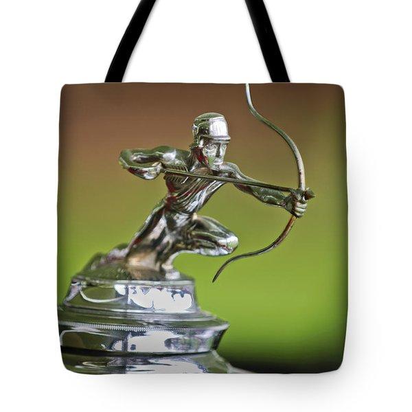 1930 Pierce-arrow Model A Convertible Hood Ornament Tote Bag by Jill Reger