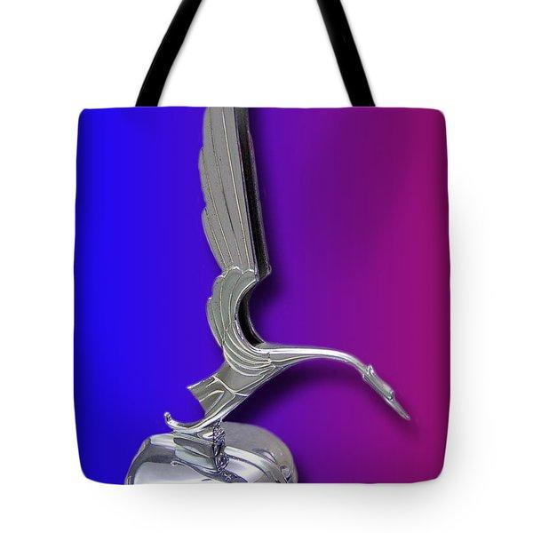 1931 Cadillac V-16 Heron Mascot Tote Bag by Jack Pumphrey