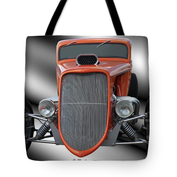 1933 Ford Roadster - Hotrod Version Of Scream Tote Bag by Betty Northcutt