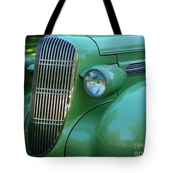 1935 Oldsmobile Grill Tote Bag by Peter Piatt