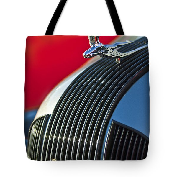 1935 Pontiac Sedan Hood Ornament Tote Bag by Jill Reger