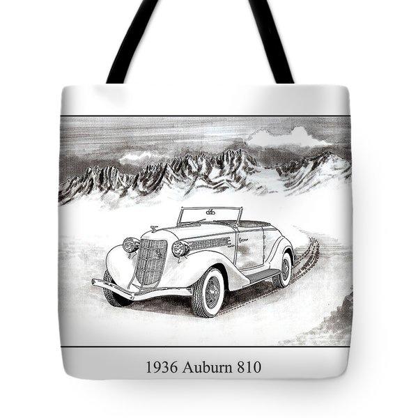 1936 Auburn 810 Tote Bag by Jack Pumphrey