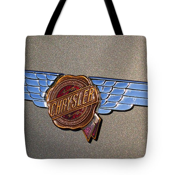 1937 Chrysler Airflow Emblem Tote Bag by Gordon Dean II