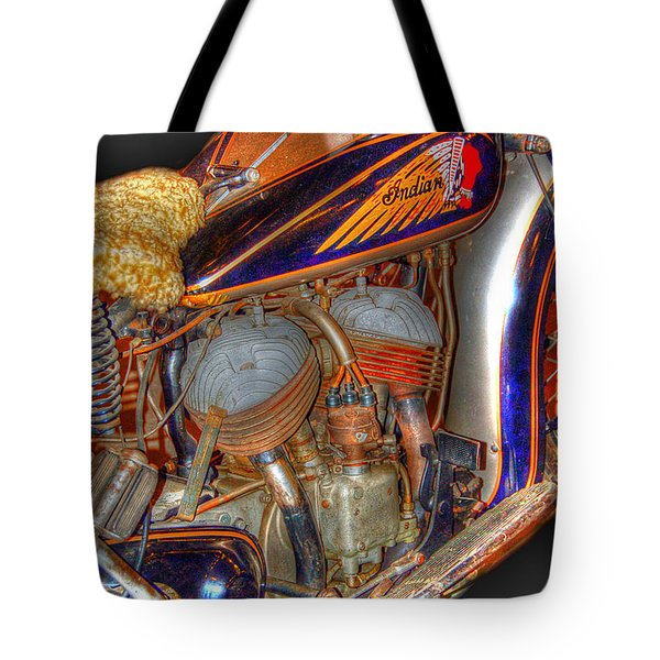 1940 Indian Scout Police Unit Version 1 Tote Bag by Ken Smith