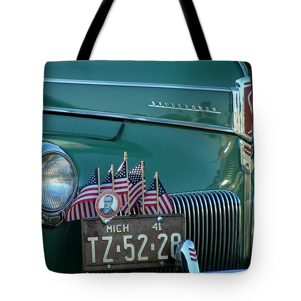 1941 Studebaker Tote Bag by Dennis Pintoski