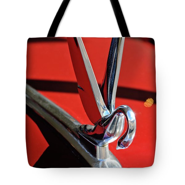 1948 Packard Hood Ornament 2 Tote Bag by Jill Reger