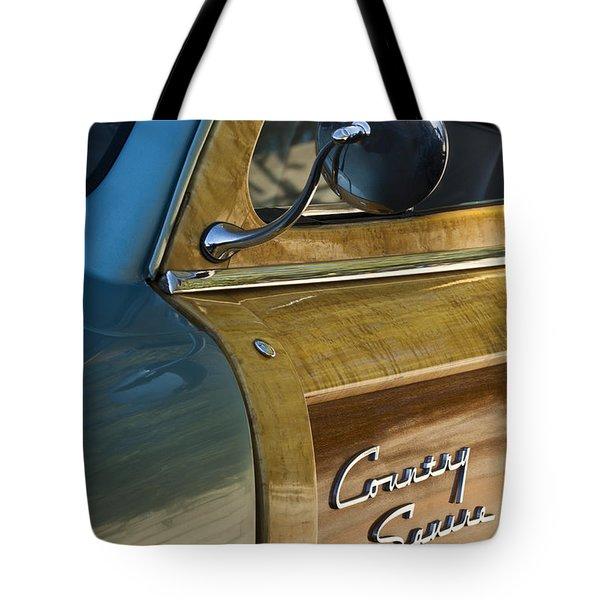 1951 Ford Woodie Country Sedan Tote Bag by Jill Reger