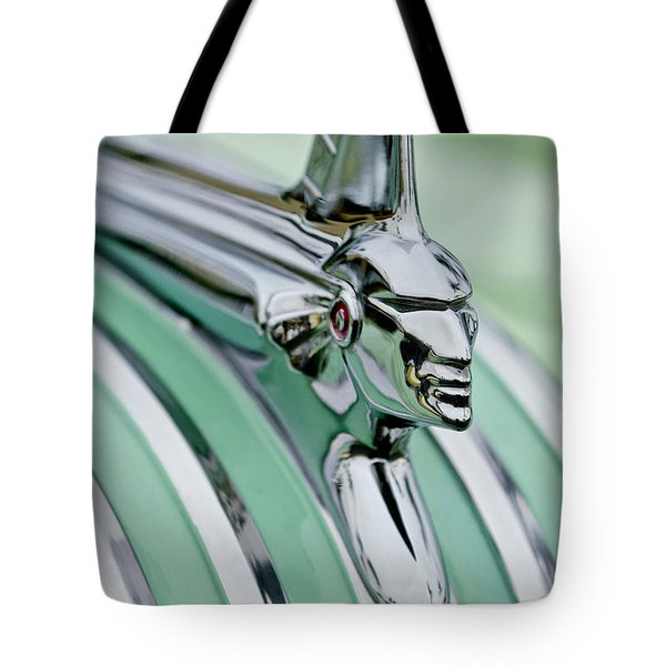 1951 Pontiac Streamliner Hood Ornament 3 Tote Bag by Jill Reger