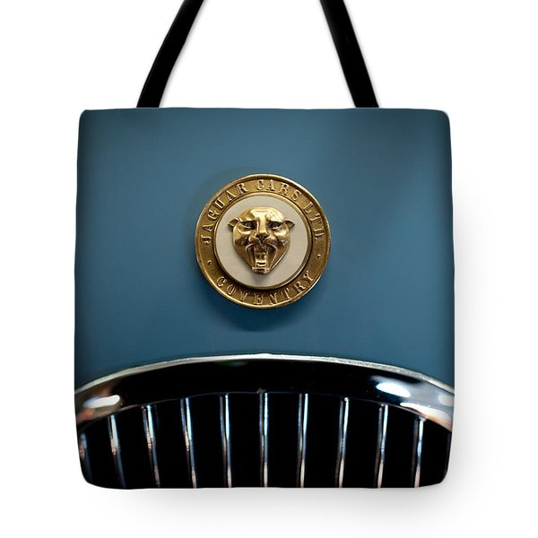 1952 Jaguar Hood Ornament Tote Bag by Sebastian Musial