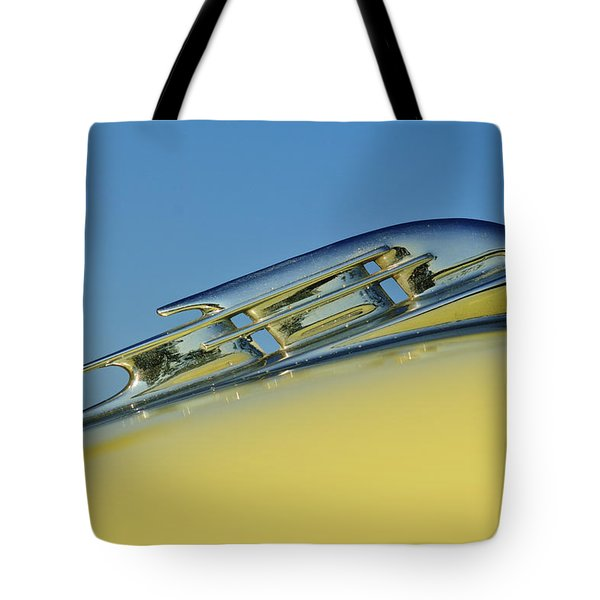 1953 Plymouth Hood Ornament 2 Tote Bag by Jill Reger