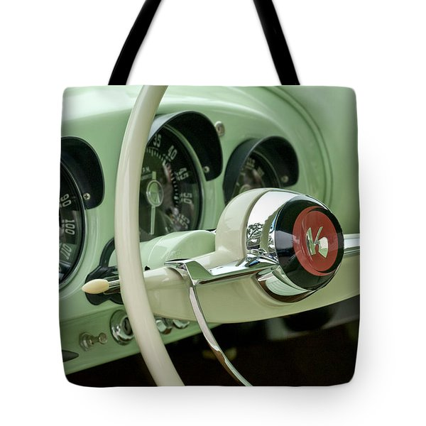 1954 Kaiser Darrin Steering Wheel Tote Bag by Jill Reger