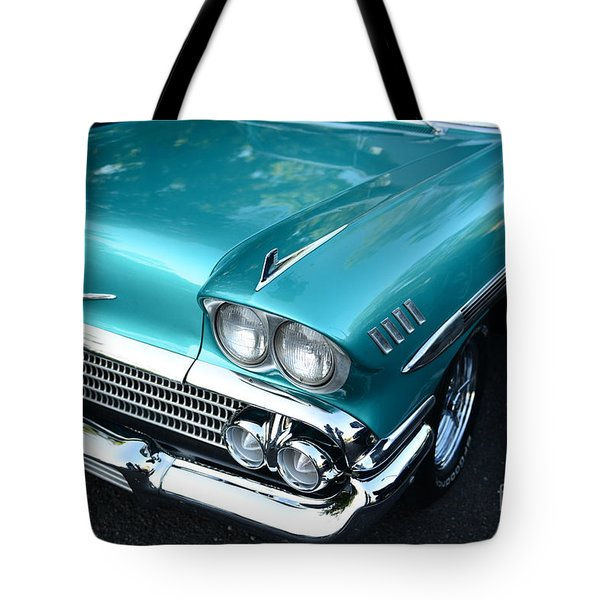 1955 Chevy Belair Front End Tote Bag by Paul Ward