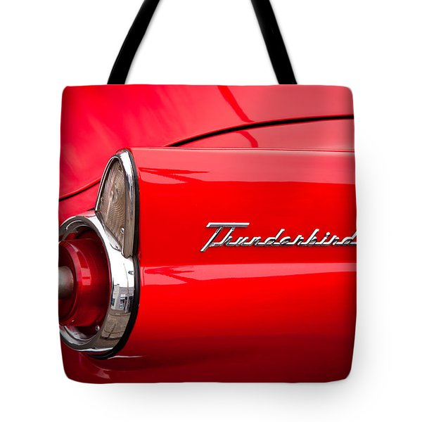 1955 Ford Thunderbird Tote Bag by David Patterson