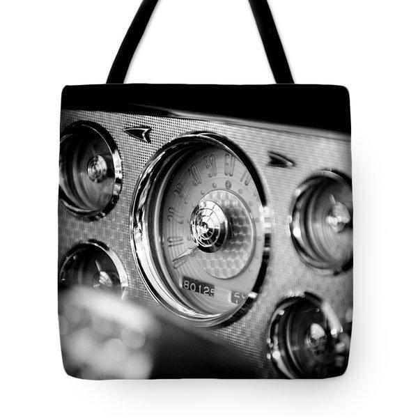 1956 Packard Caribbean Dashboard Tote Bag by Sebastian Musial