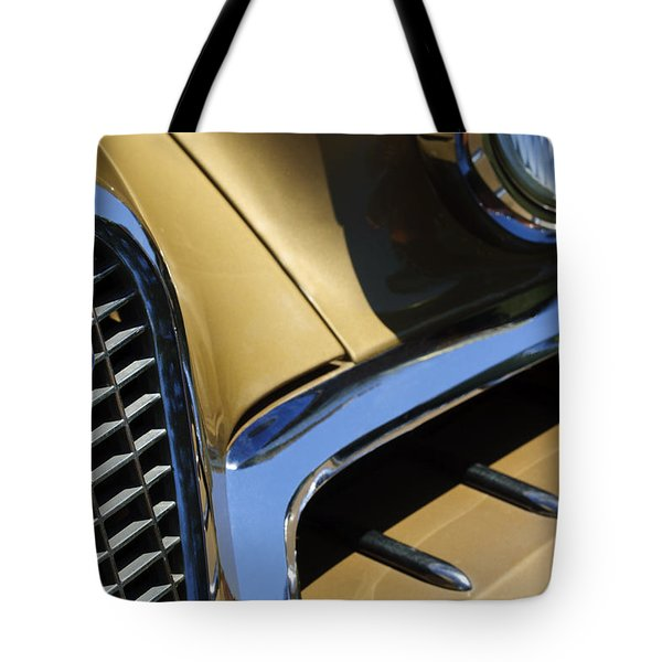 1957 Studebaker Golden Hawk Hardtop Grille Emblem Tote Bag by Jill Reger