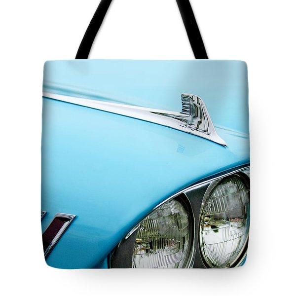 1958 Chevrolet Impala Fender Spear Tote Bag by Jill Reger