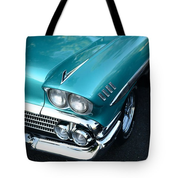 1958 Chevy Belair Front End 01 Tote Bag by Paul Ward