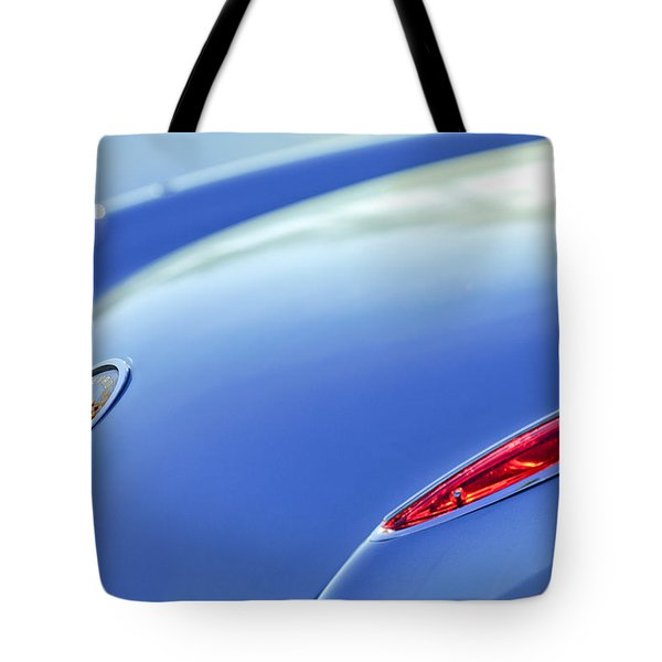 1959 Chevrolet Corvette Taillight Emblem Tote Bag by Jill Reger