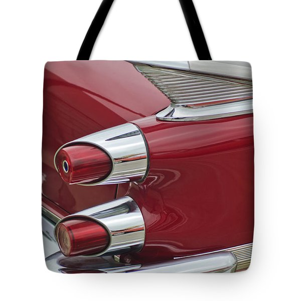 1959 Dodge Custom Royal Super D 500 Taillight Tote Bag by Jill Reger