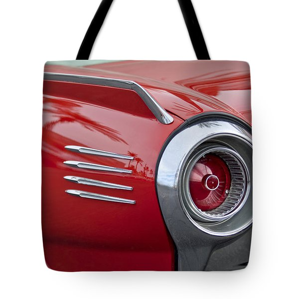 1961 Ford Thunderbird Taillight Tote Bag by Jill Reger