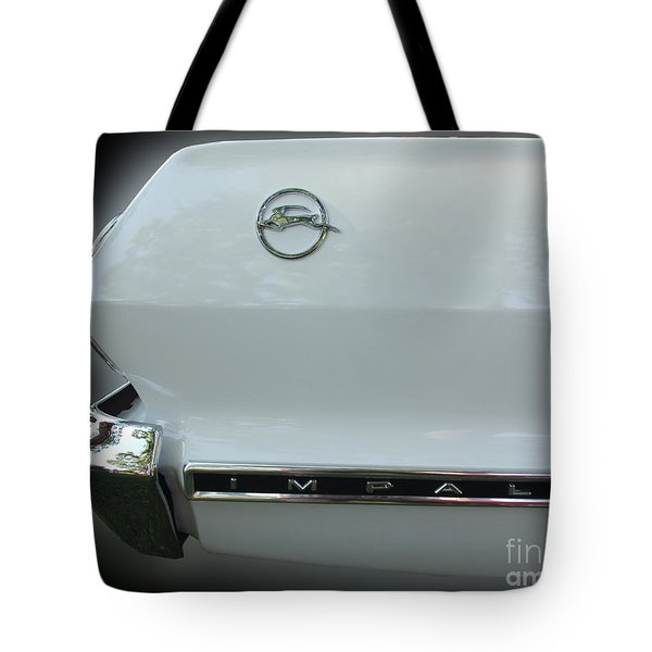 1963 Chevy Impala Tote Bag by Peter Piatt