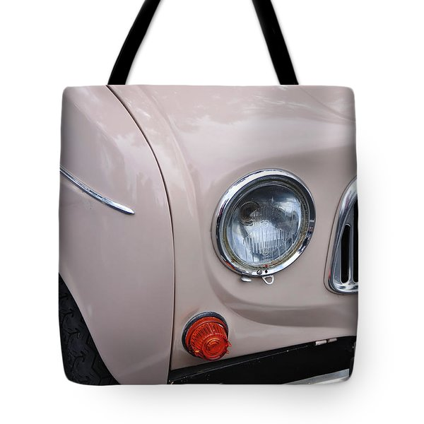1963 Renault R4 - Headlight And Grill Tote Bag by Kaye Menner