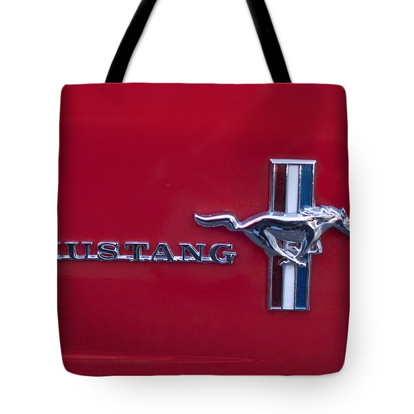 1965 Ford Mustang Emblem 4 Tote Bag by Jill Reger
