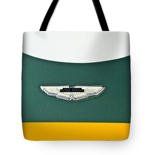 1993 Aston Martin Dbr2 Recreation Hood Emblem Tote Bag by Jill Reger