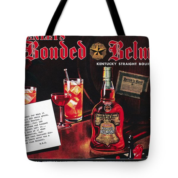 American Whiskey Ad, 1938 Tote Bag by Granger