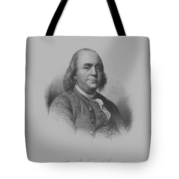 Benjamin Franklin Tote Bag by War Is Hell Store
