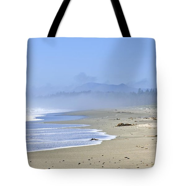 Coast Of Pacific Ocean In Canada Tote Bag by Elena Elisseeva