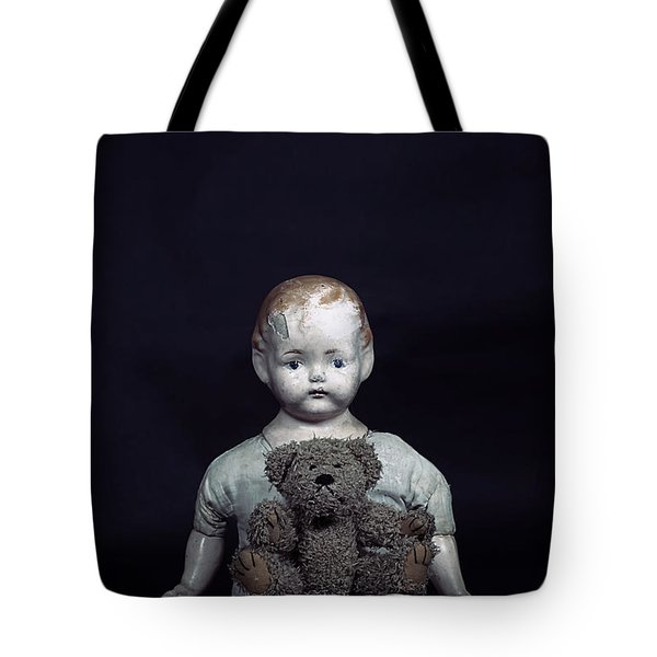 doll and bear Tote Bag by Joana Kruse