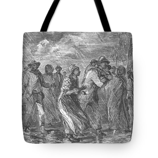 Escaping To Underground Railroad Tote Bag by Photo Researchers
