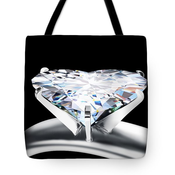 heart diamond Tote Bag by Setsiri Silapasuwanchai