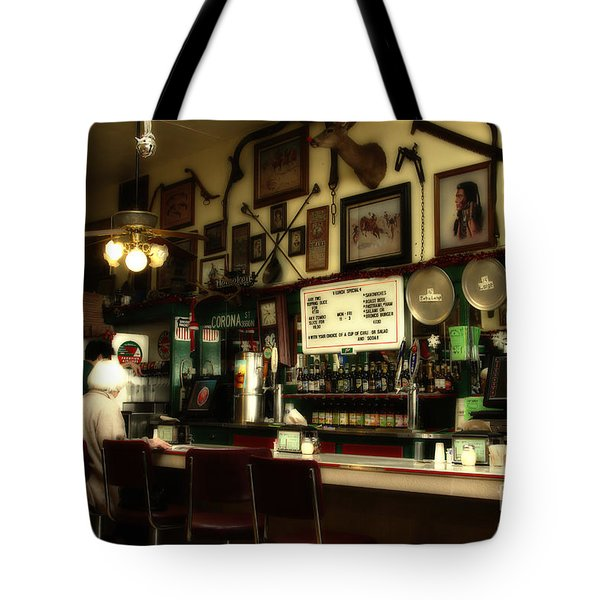 Historic Niles District in California Near Fremont . Bronco Billys Pizza Palace . 7D10707 Tote Bag by Wingsdomain Art and Photography