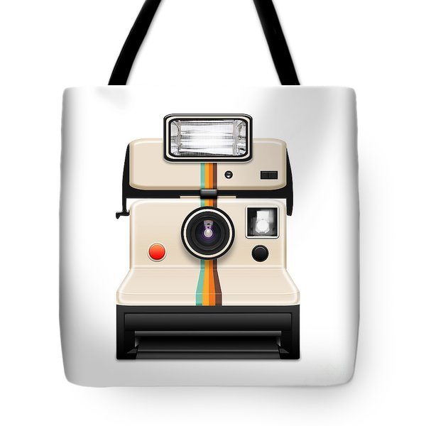 Instant Camera With A Blank Photo Tote Bag by Setsiri Silapasuwanchai